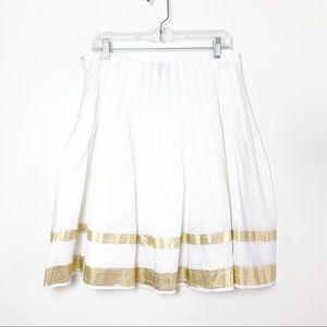 Ralph Lauren Black Label Linen Pleated Skirt